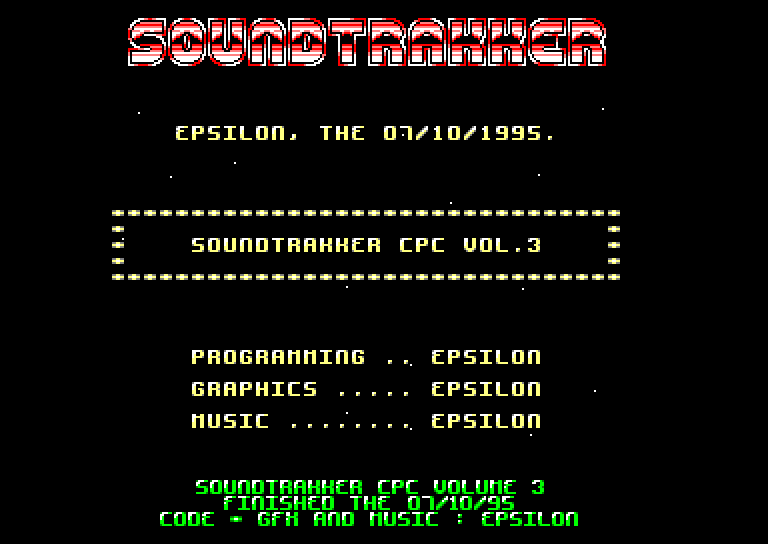 soundtrakker cpc volume 3 © power system (1995)