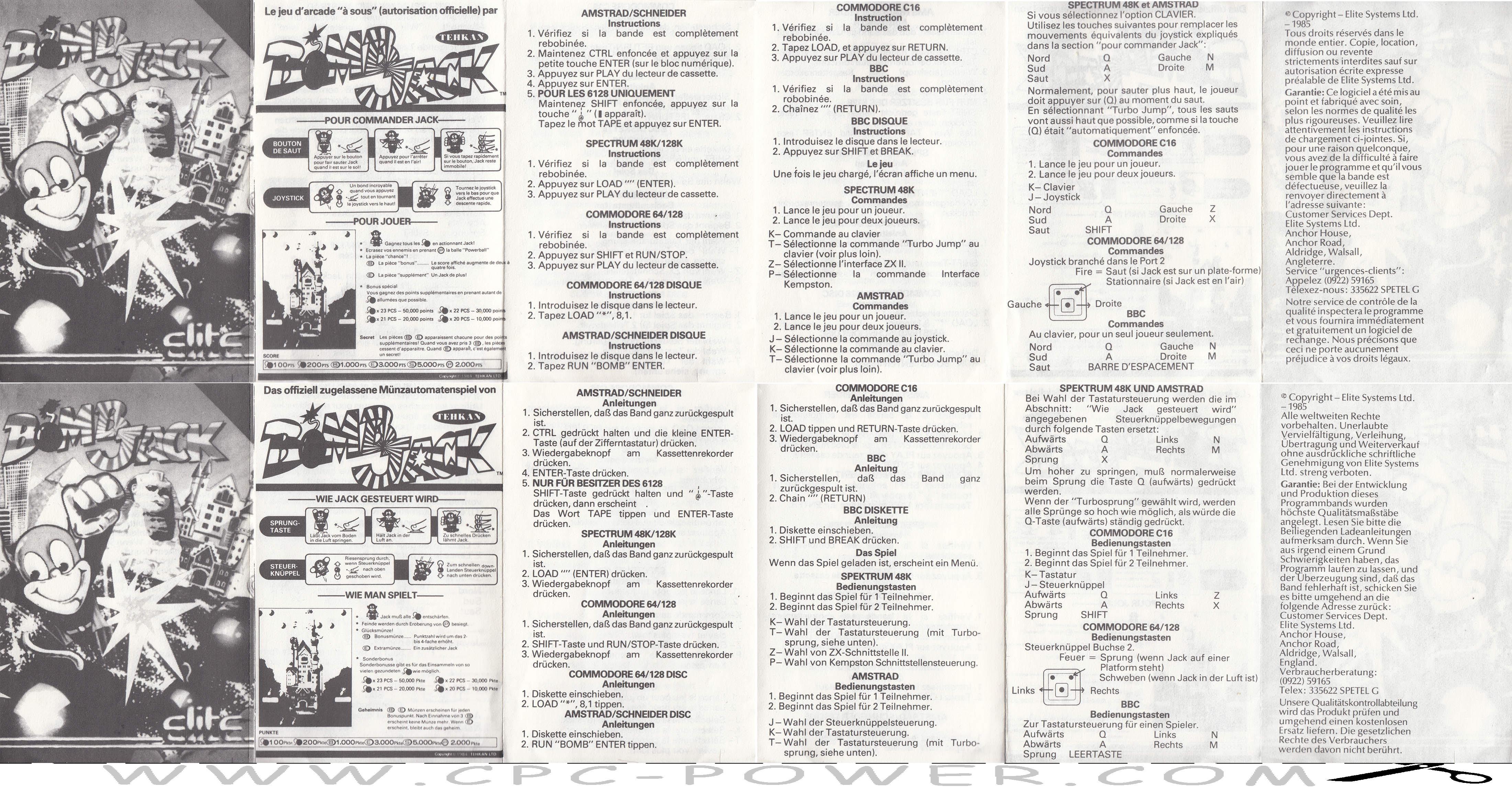 Bomb Jack Elite Systems 1986